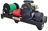 electric skid mounted sewer jetter