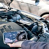 Smartphone Enabled 720p Digital Inspection Mirror - Ullman E-DM-1
