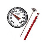 Thermometer - Dial Pocket Easy to Read Analog Display