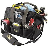 Tool Bag - Custom Leather Craft Big Mouth 29 Pocket With LED 230