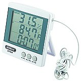 Temperature & Hygrometer Meter Digital w/Clock Jumbo Display