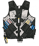 Vest Tech Work Tool Vest - Black / Silver Version 2