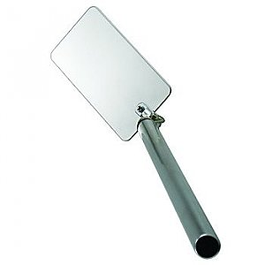 "Telescopic Inspection Mirror - Rectangular Stainless Steel 2"" x 3-3/4"""