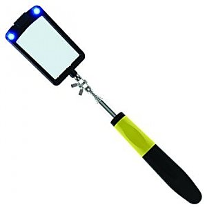 "Inspection Mirror - LED Telescoping  2"" x 3"""