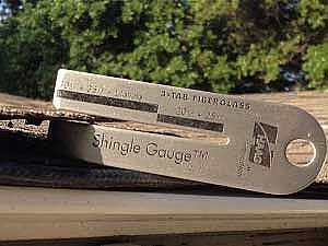 Shingle Gauge - Haag Thickness Gauge for Lifetime Limited Warranty Roofing