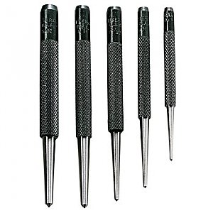 Center Punches - Round Shank - 5pc SPC74