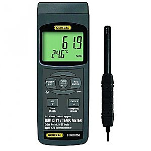 Humidity & Temperature Meter - Data Logging, Dew Point, Wet Bulb
