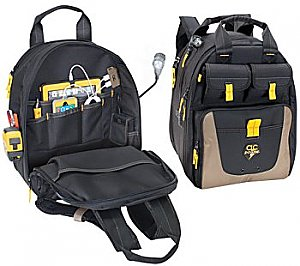CLC tool bag with charging backpack