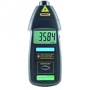 Laser Tachometer - Digital Display,  Non-Contact
