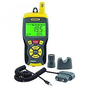 Moisture Meter Pin/Pinless with 9 Function Hygrometer - RHMG650